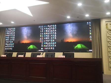 深圳某政府单位室内P1.25全彩显示屏11平米