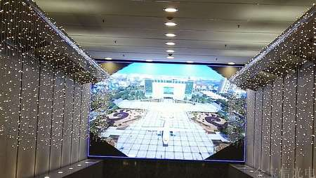 广州国际银行室内P6全彩显示屏26平米