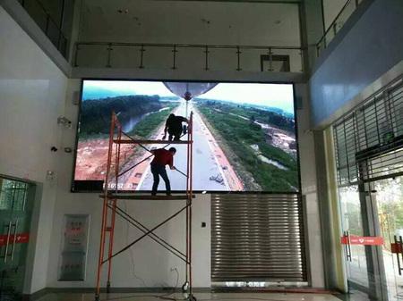 肇庆地税局室内P4室内LED全彩屏18平米