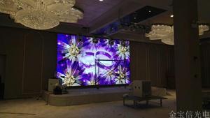 湖北赤壁圣薇拉室内P4全彩显示屏51平米