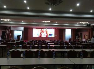 肇庆丽晶酒店会议室P4室内全彩显示屏15平米
